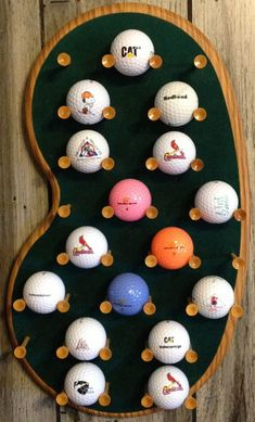 Northwest Gifts - 29 Logo Golf Ball Display Rack for Collectible Golf Balls #GolfBallsAnyone?