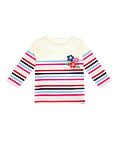 Take a look at this Cream Stripe Breton Top - Infant, Toddler & Girls by JoJo Maman Bébé on #zulily today!