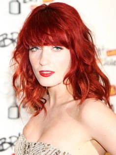 Sharply cut and softly feathered, the singer's fringe brings extra edge to her fiery rock 'n' roll style.