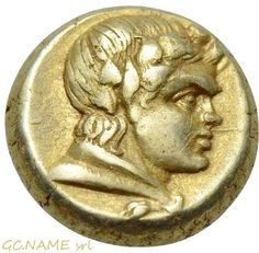 Ancient Greek: LESBOS. Mytilene. EL Hekte (Circa 377-326 BC).Gold Oro Or #439