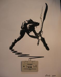 What to do with all those useless cassette tapes...? By artist Erika Iris Simmons.