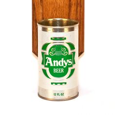 Andy's Wall Mounted Man Cave Bottle Opener with Vintage Beer Can Capcatcher, $37.00