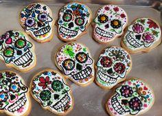 Día de muertos - galletas de calaveritas con decoración de royal icing