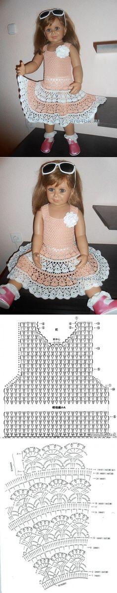 Детское платье крючком — работа Татьяны Султановой - вязание крючком | вяжем детям | Постила