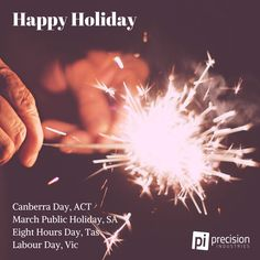 Happy Holiday ACT #canberraday, SA #marchpublicholiday, Tas #eighthoursday and Vic #labourday.