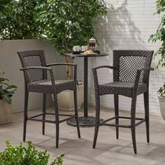 Farley Wicker Barstool Multibrown - Christopher Knight Home : Target Outdoor Bar Stools, Patio Dining Chairs, Bar Height Patio Set, Contemporary Adirondack Chairs, Outdoor Furniture Sets, Outdoor Decor, Backyard Furniture, Outdoor Ideas, Outdoor Spaces