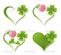 Buy Set of Heart Icons with Clover Leaf and Blossom by tatus on GraphicRiver. Set of heart icons with clover leaf and blossom Tattoos Skull, Mini Tattoos, Body Art Tattoos, Tribal Tattoos, Small Tattoos, Cool Tattoos, Zodiac Tattoos, Four Leaf Clover Tattoo, Clover Tattoos