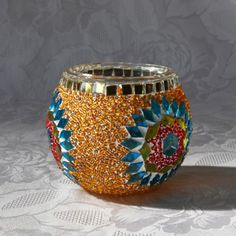 Wine Glass Designs, Turkish Lamps, Bottle Painting, Moroccan Style, Decorative Bowls, Boho Fashion, Glass Art, Candle Holders, Porta Velas
