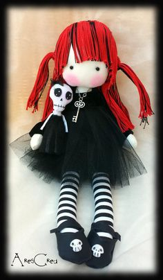 Hey, I found this really awesome Etsy listing at https://www.etsy.com/listing/530920311/creepy-cute-goth-cloth-doll-giuditta