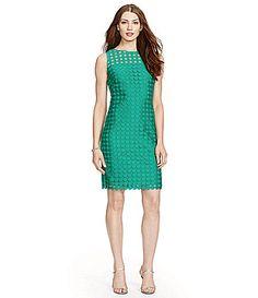 Lauren Ralph Lauren Geometric Lace Sheath Dress #Dillards