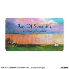 SOLD!!  Business Profile Cards From Original Landscape Painting