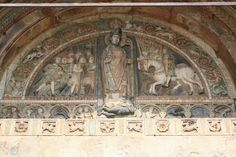 Verona, Basilica of San Zeno. Niccolò, he took a lot from Wiligelmo but his figure has more agility in movements.