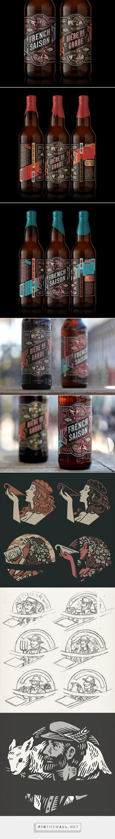 De Steeg Brewing beer packaging design by TILT Beverage Packaging, Bottle Packaging, Coffee Packaging, Food Packaging, Packaging Design Inspiration, Design Packaging, Label Design, Design Design, Graphic Design