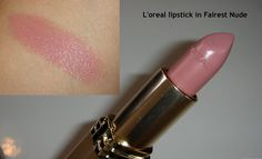 L'Oreal Colour Riche Lipstick in Fairest Nude. A MAC dupe for Viva Glam II!