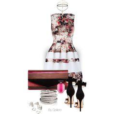 the magic dress by qolibrodesigns on Polyvore featuring moda, Almari, Gianvito Rossi, Trina Turk LA, Forever 21, Miss Selfridge and Victoria's Secret