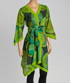 Take a look at this Green Abstract Tunic on zulily today!