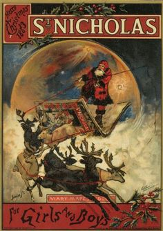 "Wisconsin Historical Images - ""St. Nicholas"" Magazine Christmas cover 1883"