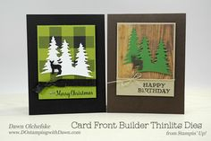 Stampin' Up! Card Front Builder Thinlits shared by Dawn Olchefske #dostamping