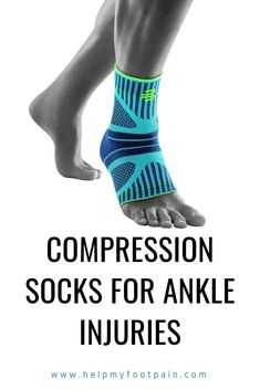 Are you having issues with ankle pain. Then you might want to try compression socks for ankle injuries. Ankle Pain, Heel Pain, Foot Pain, Foot Remedies, Health Remedies, Foot Stretches, Support Socks, Sprained Ankle