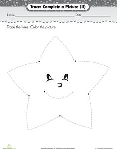 TraceAStar Worksheet Paging Supermom ARTS & CRAFTS