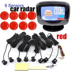 LCD Display Buzzer Alert 8 Sensors Radar front Reverse Guiding Car Parking Radar System sensor 9 colors available  high quality #Affiliate