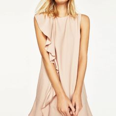 Women's Summer Sleeveless Ruffle Frill Bodycon Mini Dress Evening Party Clubwear #Haoduoyi #StretchBodycon #Formal