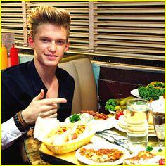 Cody Simpson and food. amazing!!!!!!!