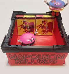 """NAPOLEON RECORDS CD Container  """"鬼束ちひろ - NAPOLEON RECORDS""""のロゴ入り(FRONT&BACK) CDコンテナ Napoleon, Container"""