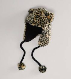AEO Cheetah Faux Fur Trapper Hat