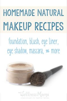 These DIY natural makeup recipes can be made at home to avoid the chemicals in conventional beauty products.