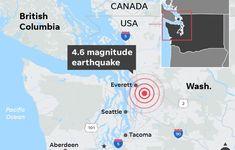 #Earthquake rattles #Washington state, followed by aftershock. #seattleearthquake Three Lakes, Survey Report, Washington State, Geology, Seattle, City, Cities