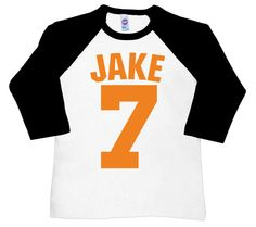 This Jersey Baseball Tee for children is great for boys or girls. It comes in toddler and childrens sizing and the design can be in a variety of