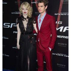 Emma Stone (in Gucci) and Andrew Garfield (in Balenciaga)