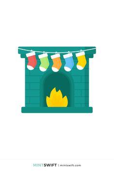 Web Design Packages, Flat Design Illustration, Christmas Fireplace, Business Checks, Vector Illustrations, Business Branding, Design Tutorials, Wall Art Prints, Designers