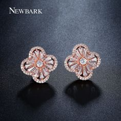Find More Stud Earrings Information about NEWBARK Cute Flower Umbrella Shape Stud Earrings For Women Rose Gold Plated And Silver Color Korea Jewelry Love Gifts For Girls,High Quality earing jewelry,China earing packaging Suppliers, Cheap earing rack from Newbark Official Store on Aliexpress.com