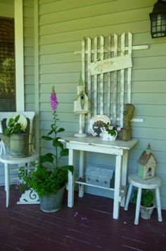 garden decorations from junk, Best junk I ever seen! this is so cute.