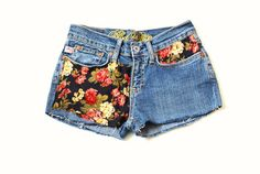 Floral Denim Shorts by Thelilacgirl on Etsy, $32.00