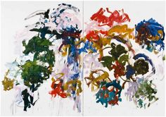 Joan Mitchell Sunflowers, 1990—1991  Oil on canvas  Diptych  280 x 400.1 cm / 110 1/4 x 157 1/2 in  2 parts, each 280 x 200 cm / 110 1/4 x 78 3/4 in