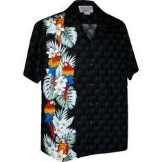 chemise hawaienne ...SIDE PARROTS