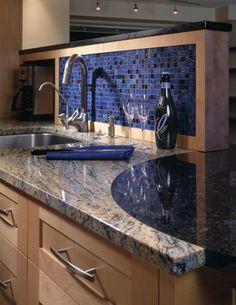 Blue Glass Kitchen Backsplash   Blue Glass Tile Backsplash Design Ideas, Pictures, Remodel, and Decor