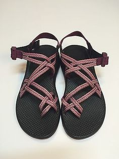 Chaco Women's ZX2 Yampa Sandals Size 7 Pink Black Tidal Wave Tsunami New!