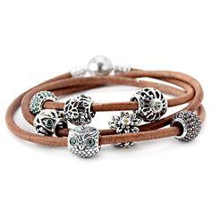 Personalized Photo Charms Compatible with Pandora Bracelets. Pandora Falling Leaves Bracelet