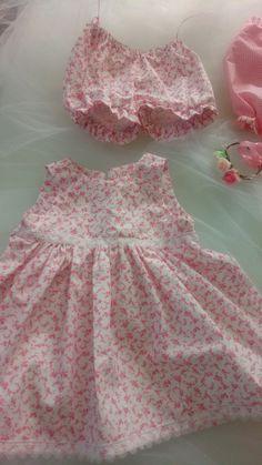 Robe et bloomer de baptême cérémonie mariage bébé : Mode Bébé par my-arabesque