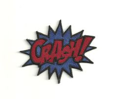 Super Hero, CRASH Patch! Any Color Combo! Custom Made!