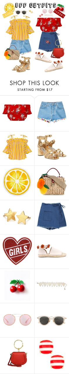 """""""BFF Outfits : Summer Edition"""" by stylechristine ❤ liked on Polyvore featuring Miss Selfridge, Forte Forte, Prada, Nordstrom Rack, Dolce&Gabbana, Pernille Corydon, C&D Visionary, Raye, Amrita Singh and Issey Miyake"""