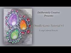Tutorial How to Make Zen Doodle Gems Episode: 1, #CACfantasyart - YouTube