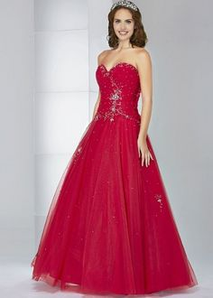 The sparkling red Primrose gown By Rosetta Nicolini from Berketex.