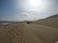 Sandboarding in Lima, Peru