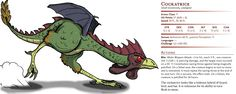 D&D Basic Monsters: Cockatrice
