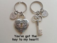 Key and Lock Keychain Set Couples Keychain Set Key Ring